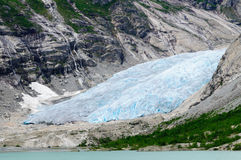 Nigardsbreen glacier at Jostedalsbreen National Park, Norway Royalty Free Stock Photos