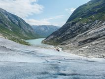 Nigardsbreen Glacier in Sogn Fjordane - Norway.  Stock Images