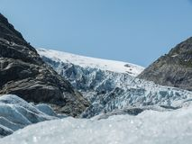 Nigardsbreen Glacier in Sogn Fjordane - Norway.  Stock Photo