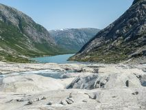 Nigardsbreen Glacier in Sogn Fjordane - Norway.  Royalty Free Stock Image
