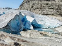 Nigardsbreen Glacier in Sogn Fjordane - Norway.  Royalty Free Stock Photography