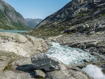 Nigardsbreen Glacier in Sogn Fjordane - Norway.  Stock Photography