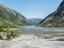 Nigardsbreen Glacier in Sogn Fjordane - Norway.  Royalty Free Stock Photos