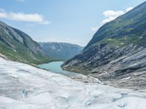 Nigardsbreen Glacier in Sogn Fjordane - Norway.  Royalty Free Stock Photo