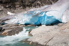 Nigardsbreen glacier in summer, Norway Stock Photos