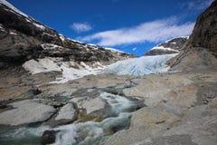 Nigardsbreengletsjer, Noorwegen Stock Afbeelding
