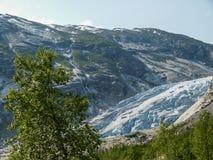 Nigardsbreengletsjer in Sogn Fjordane - Noorwegen royalty-vrije stock afbeelding