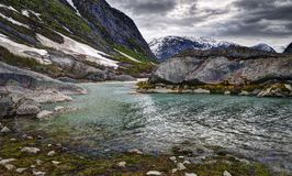 Nigardsbrevatnet湖,挪威 库存照片
