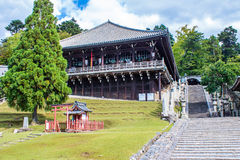 Nigatsu,在TÅ 戴籍,寺庙在奈良,日本 库存照片