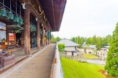 Nigatsu-do Hall Front Wooden Deck Todai-ji Complex Stock Photos