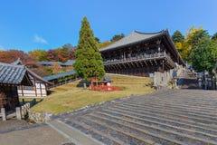 Nigatsu-do Hall of Todi-ji complex in Nara Stock Image