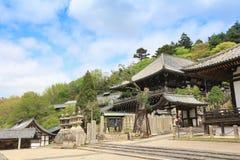 The Nigatsu-do Hall of Todi-ji complex, tourist attractions in N Stock Photos