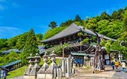 Nigatsu-gör en korridor av den Todai-ji templet i Nara royaltyfri bild