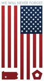 Nigdy Zapominamy 9-11 wspominania wektoru ilustrację ilustracji