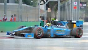 Nigel Melker участвуя в гонке в Сингапур GP2 2012 Стоковая Фотография
