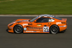 Nigel moore racing winning g50 title. In orange ginetta at silverstone, 17 august 2008 stock images