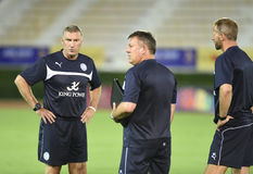 Nigel Pearson manager of Leicester City Stock Photos