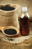 Nigella sativa oil Stock Image