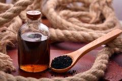 Nigella sativa oil Stock Image