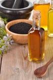 Nigella sativa oil. Stock Image