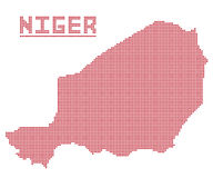 Niger Africa Dot Map Image libre de droits