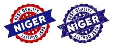 Niger Best Quality Stamp con la superficie di lerciume Fotografie Stock Libere da Diritti