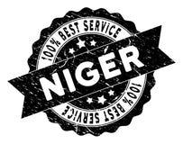 Niger Best Service Stamp con stile Grungy Fotografia Stock Libera da Diritti