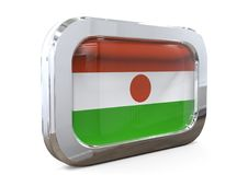 Niger Button Flag 3D illustration vektor illustrationer