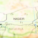 Niger country on map Stock Images