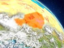 Niger de la órbita ilustración del vector