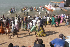 Niger festival races Royalty Free Stock Photo
