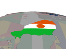 Niger with flag Stock Images