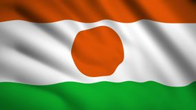 Niger flag motion video waving in wind. Flag Closeup 1080p HD  footage royalty free illustration