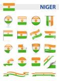 Niger Flag Vector Set Foto de archivo libre de regalías