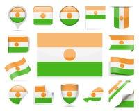 Niger Flag Vector Set Imagen de archivo