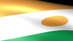 Niger Flag Waving ilustración del vector