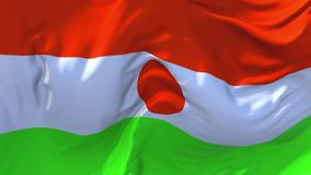 200. Niger Flag Waving in Wind Continuous Seamless Loop Background. vector illustration