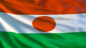 Niger Flag Wellenartig bewegende Flagge von Illustration Nigers 3d stock abbildung