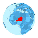 Niger on globe isolated Stock Photography