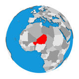 Niger on globe Stock Images