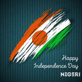 Niger Independence Day Patriotic Design Immagini Stock Libere da Diritti