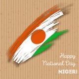 Niger Independence Day Patriotic Design Imágenes de archivo libres de regalías
