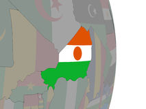 Niger with its flag Royalty Free Stock Photo