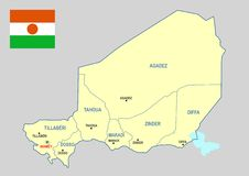 Niger map - cdr format Royalty Free Stock Image