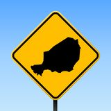 Niger map on road sign. Square poster with Niger country map on yellow rhomb road sign. Vector illustration stock illustration