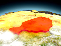 Niger on model of Earth Stock Images
