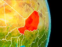 Niger på jord Arkivfoto