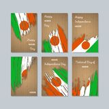 Niger Patriotic Cards per la festa nazionale Fotografie Stock
