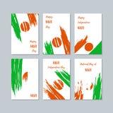 Niger Patriotic Cards voor Nationale Dag royalty-vrije illustratie