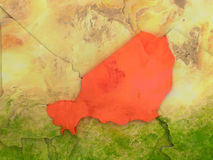 Niger in red Stock Photo